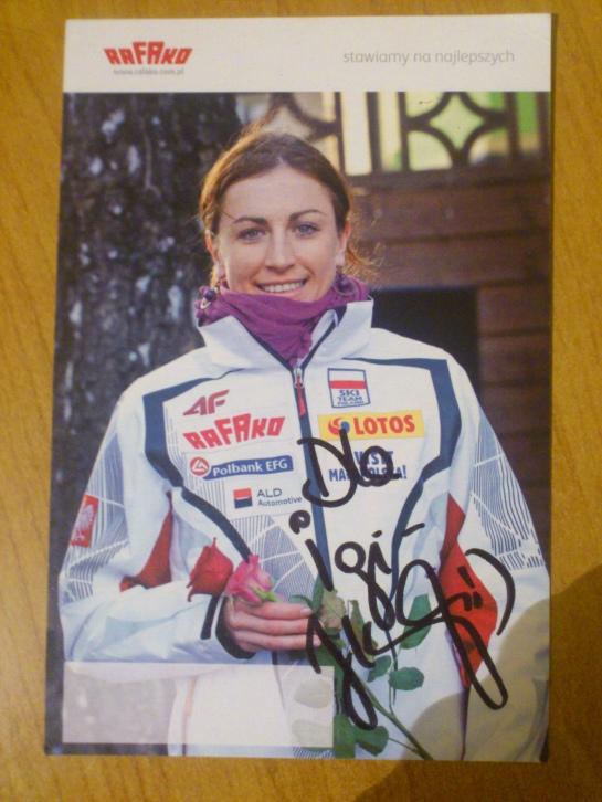 #22 Autograf Justyny Kowalczyk