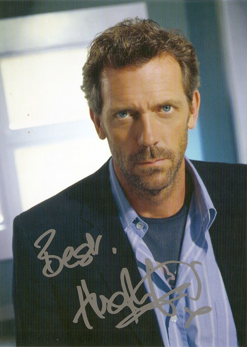 #107 Autograf - Hugh Laurie (Dr House)