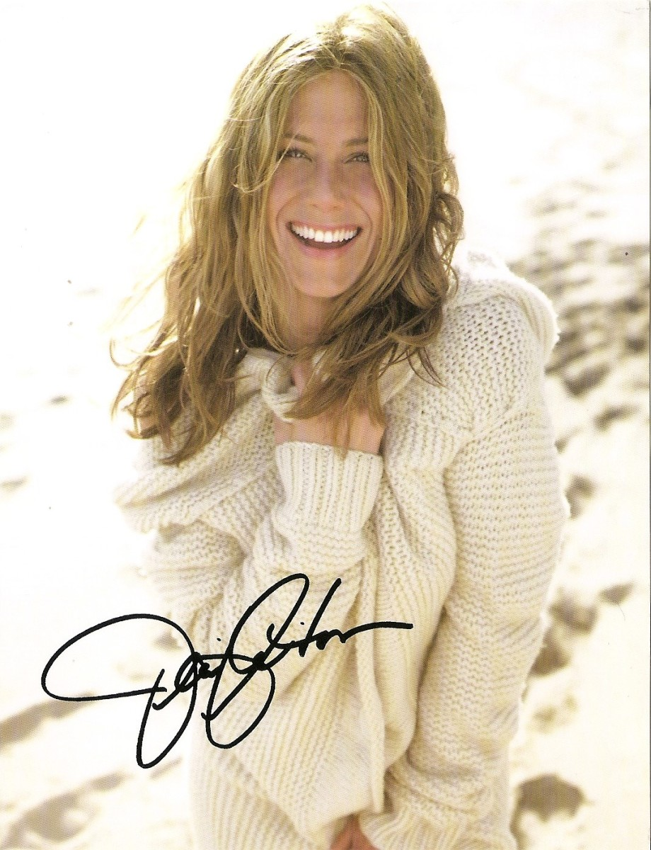 #109 Autograf Jennifer Aniston