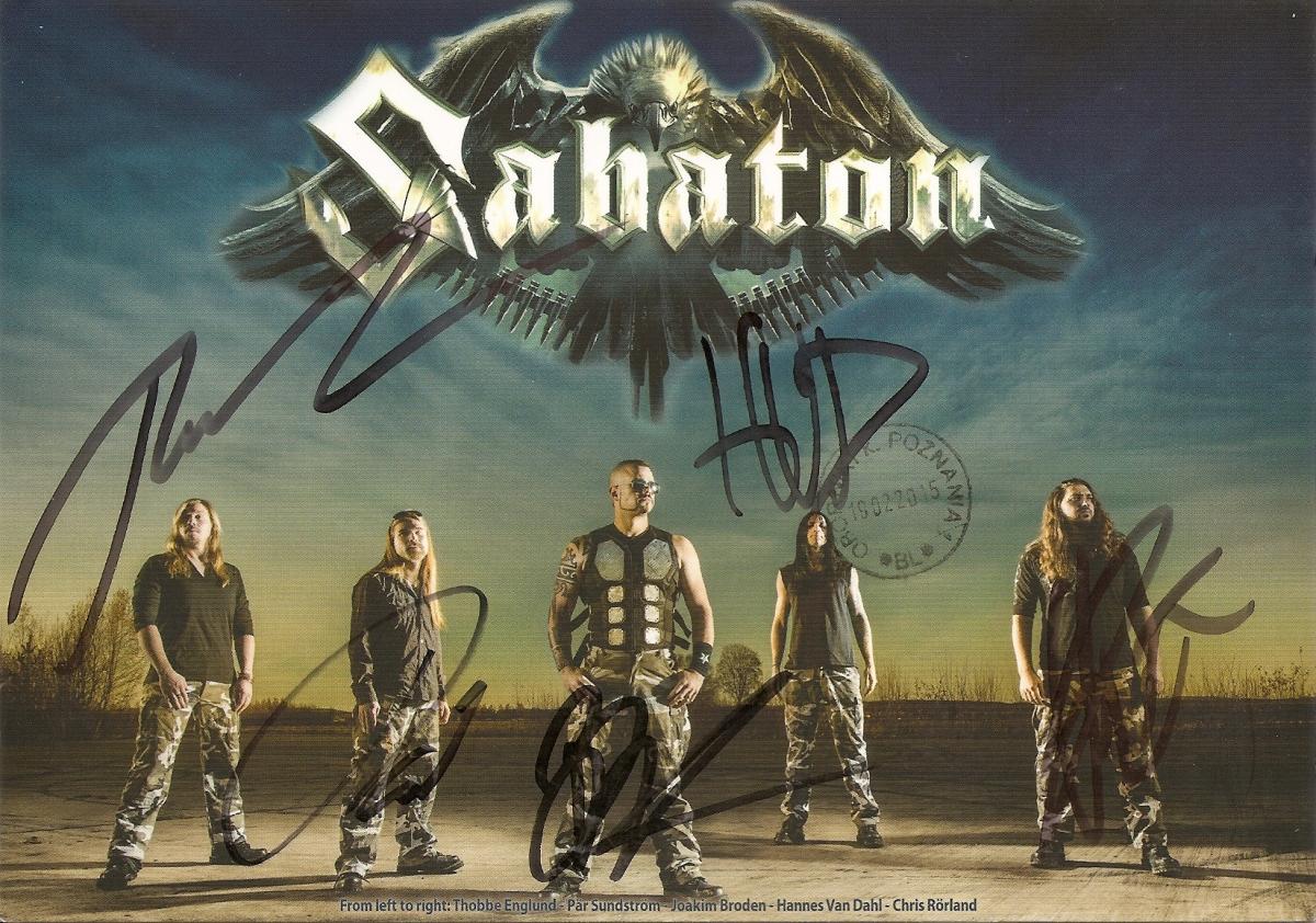 #137 Autograf członków zespołu Sabaton