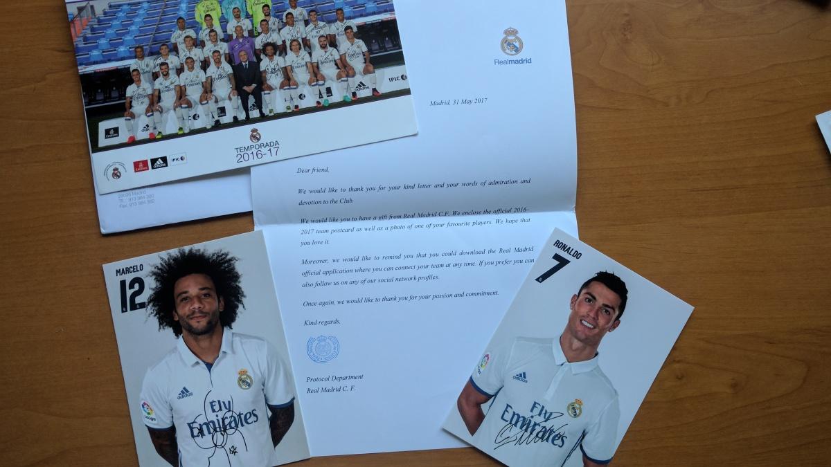 Przesyłka od Realu Madryt - Cristiano Ronaldo i Marcelo